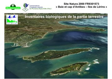 Présentation des résultats de l'inventaire écologique terrestre