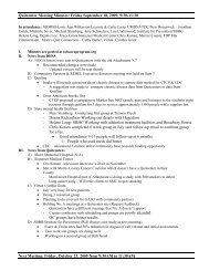 Quitcenter Meeting Minutes: Friday September 18, 2009, 9:30-11:30 ...