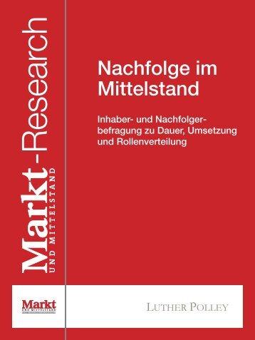 Nachfolge im Mittelstand Inhaber- und Nachfolger - B4B ...
