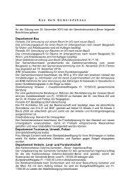 Departement Bau Departement Tourismus, Umwelt, Polizei ... - Bever