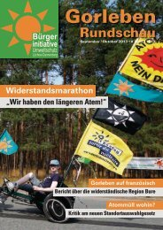 September / Oktober 2013 - Bürgerinitiative Umweltschutz Lüchow ...