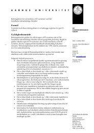 AU-design: Dansk brev (afdelingsmaster ver 1.02) - Aarhus Universitet