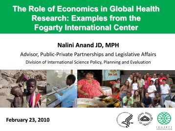 The Role of Economics in Global Health Research: Examples from ...