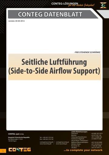Seitliche Luftführung (Side-to-Side Airflow Support = STS) - Conteg