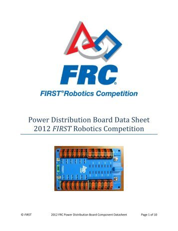 Solenoid Breakout Data Sheet 2012 First Robotics Competition