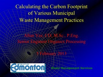 Calculating Carbon Emission Effect of Waste Management Activities