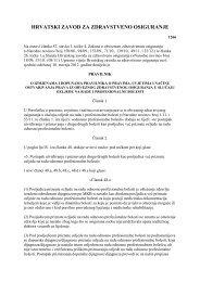 Pravilnik o pravima, uvjetima i načinu ostvarivanja prava iz ...