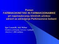Zdravljenje PB - Fakulteta za farmacijo - Univerza v Ljubljani