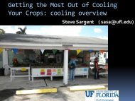 Getting the Most Out of Cooling Your Crops - Florida Ag Expo