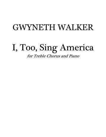 i too sing america 5 comments i too, sing america i am the darker brother they send me to eat in the kitchen when company comes, but i laugh, and eat well, and grow strong.