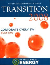 CORPORATE OVERVIEW - U.S. Department of Energy