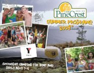 PineCrest Booklet '08-2 - YMCA of Greater Toronto