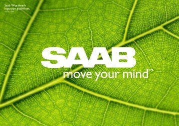 Saab Wordmark logotype guidelines - Tag
