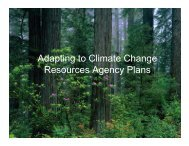 Adapting to Climate Change Resources Agency Plans