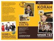 2013 Brochure: Korah's Grade 7 & 8 Intermediate Program