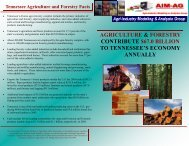agriculture & forestry contribute $67.0 billion to tennessee's ...