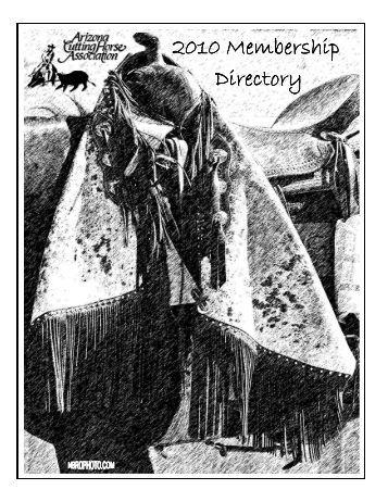 az directory 2010 - Arizona Cutting Horse Association
