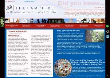ʶ ʪ ʧ - Camp Fire USA