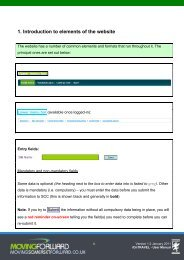 1. Introduction to elements of the website - Moving Somerset Forward