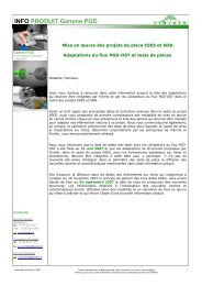 INFO PRODUIT Gamme PGD
