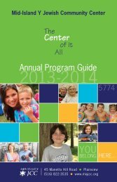 Program Guide - Mid Island Y JCC
