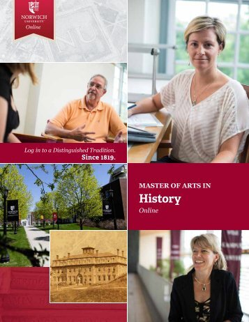to download the brochure - Masters in History - Norwich University