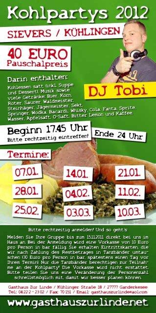 Kohlpartys 2012 - Gasthaus Zur Linde