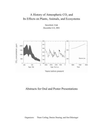A History of Atmospheric CO2 and Its Effects on ... - Ehleringer net