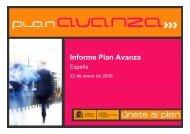 Informe Plan Avanza