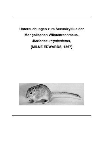 Untersuchungen zum Sexualzyklus der Mongolischen - Fachbereich ...