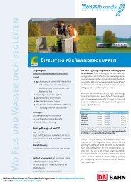 W o Fels u n d W a sser d ich beg leiten - Wanderwege in Rheinland ...