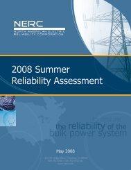 NERC Summer Assessment 2008 - FRCC Home