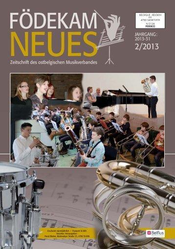 FN Ausgabe 2-13 - Musikverband Födekam Ostbelgien VOG
