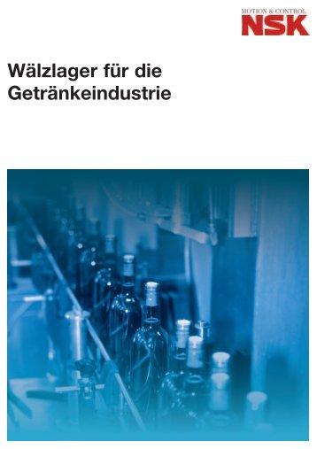 Wälzlager für die Getränkeindustrie - TMH Antriebstechnik GmbH