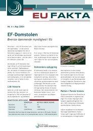 EF-Domstolen - Folketingets EU-oplysning