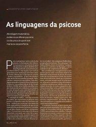 As linguagens da psicose - Revista Pesquisa FAPESP