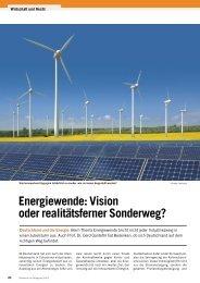 Energiewende: Vision oder realitätsferner Sonderweg? - Baunetzwerk