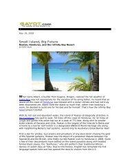 Small Island, Big Future - Infinity Bay Spa and Beach Resort