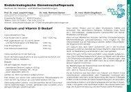 Calcium und Vitamin-D in Tabletten - Endokrinologische ...