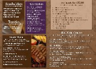 Bar Menu - The Highfield Hotel