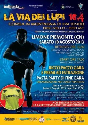 LA VIA DEI LUPI 10.4 - Atletica Varazze