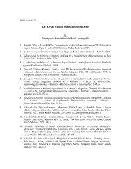Dr. Lévay Miklós publikációs jegyzéke - ELTE Állam- és ...