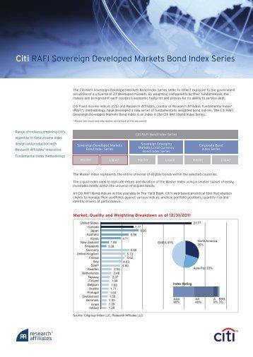 Citi RAFI Sovereign Developed Markets Bond ... - The Yield Book