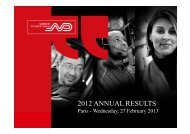 2012 Annual Results - Analysts presentation - Norbert Dentressangle