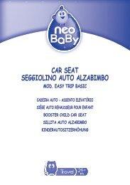 car seat seggiolino auto alzabimbo mod. easy trip basic - Neo Baby