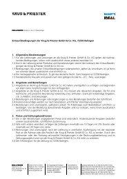 Einkaufsbedingungen der Krug & Priester GmbH & Co. KG ... - Eba