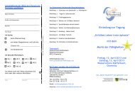 Einladung zur Tagung mit dem Markt der ... - Mobile Akademie