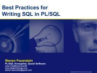 Best Practices for Writing SQL in PL/SQL - Toad World
