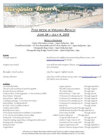JUNE 28 – J ULY 4, 2013 - Visit Virginia Beach