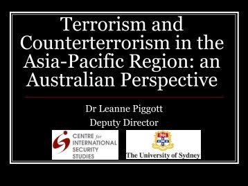 Terrorism and Counterterrorism in the Asia-Pacific Region: an ...